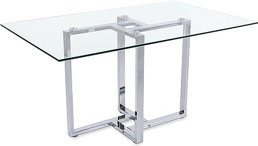 Adec - Mesa de comedor cristal para salón comedor modelo VERONA ...
