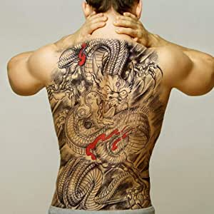 Handaxian 3pcsDIY Muerte diseño Impermeable Lobo Tatuaje Mujer ...