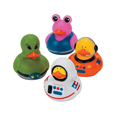 Fun Express - Astronaut/Space/Alien Ducks - Toys - Character Toys - Rubber Duckies - 12 Pieces: Toys & Games