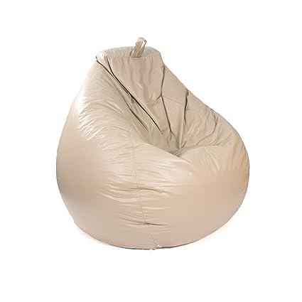 Fine Gold Medal Bean Bags Tear Drop Leather Look Vinyl Bean Bag Large Cobblestone Creativecarmelina Interior Chair Design Creativecarmelinacom