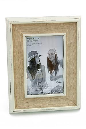 Ukgiftstoreonline Lovely Shabby White Washed Photo Frame Ideal