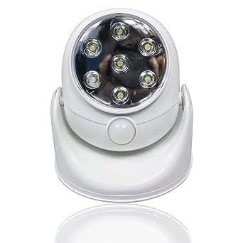 KEESIN LED del sensor de movimiento luz del pórtico, Abs reales 360 ° de movimiento
