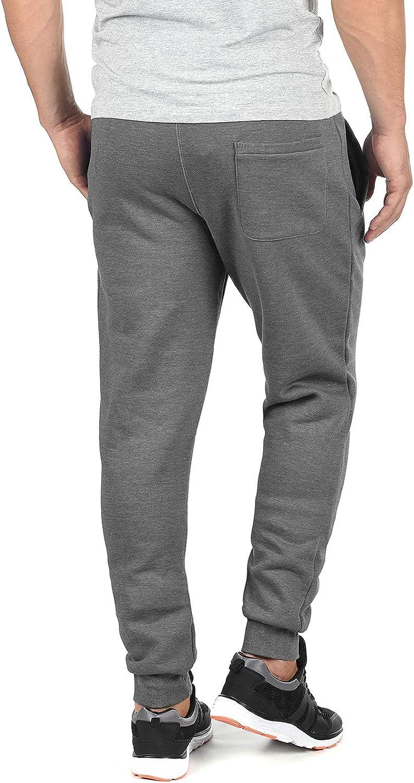 Yamadan Mens Above Ankle Length Cuffed Joggers Elastic Waist Drawstring Sweats Pants Workout Lounge Sweatpants with Pockets