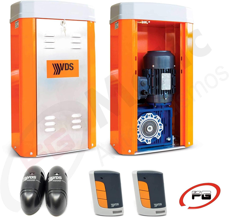 Kit motor para puertas correderas pesadas, hasta 5.000 Kg, modelo VDS TOM para cancelas de hasta 5.000 Kg, incluye motor + 2 mandos + placa de control VDS EURO 230 M1 + fotocélula.: Amazon.es: Bricolaje y herramientas