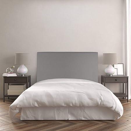 Dreaming Kamahaus Noa Cabecero Tapizado, Madera, Ceniza, 100 x 120 cm