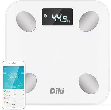 Báscula de Baño Digital DIKI Escala Inteligente con APP para IOS y Android, Báscula Grasa Corporal Bluetooth, Tecnología Step-on, Ultra-Accurate, 14 Datos Corporals y Plataforma Antideslizante: Amazon.es: Salud y cuidado personal