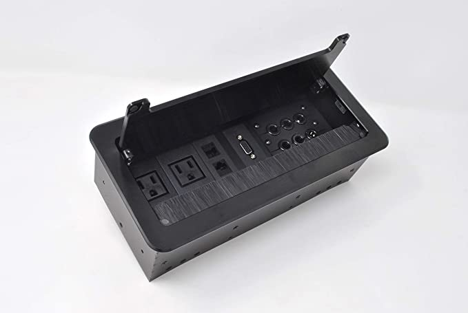 YolkVisual Cable Management Box and Connectivity Box Black Color