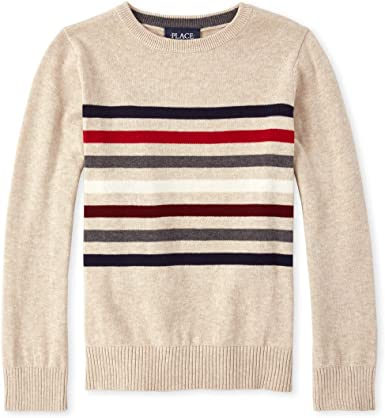 The Childrens Place Big Boys Long Sleeve Sweater