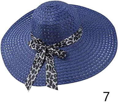 Women Derby Floppy Summer Sun Cap Fold Wide Brim Straw Hat Lady Beach Hat