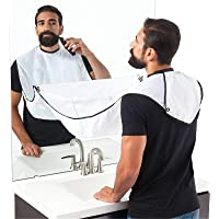 Shaving Apron Men Slick Barber Clipper & Home Beard Trimming Goatee Grooming Hair Cutting Cape Smock Collector Bib…