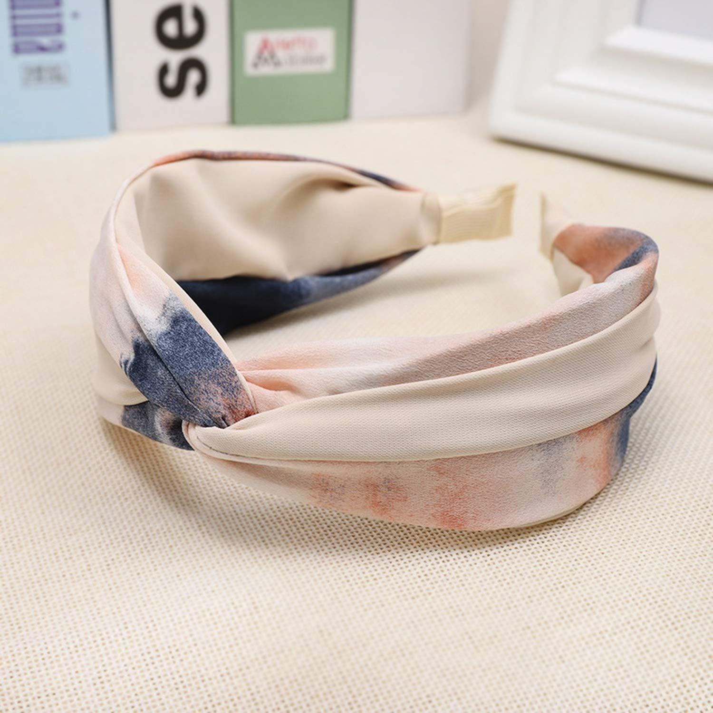 Brown78 Color Cloth Cross Hair Turban Wide Plastic Hair Hoop Bezel Hair s Accessories,Pink