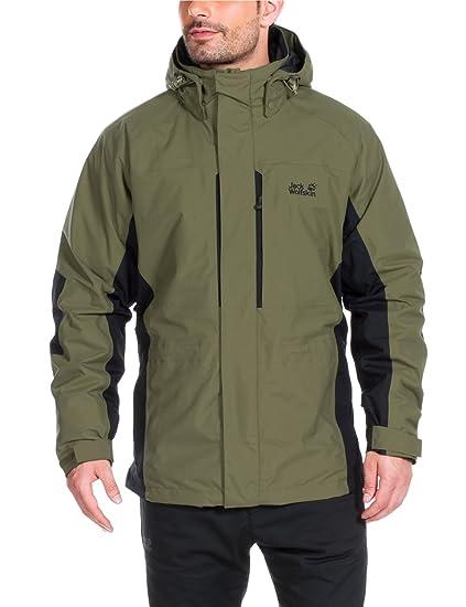 1572fb7f1 Jack Wolfskin Men's Brooks Range Waterproof 3 in 1 Jacket