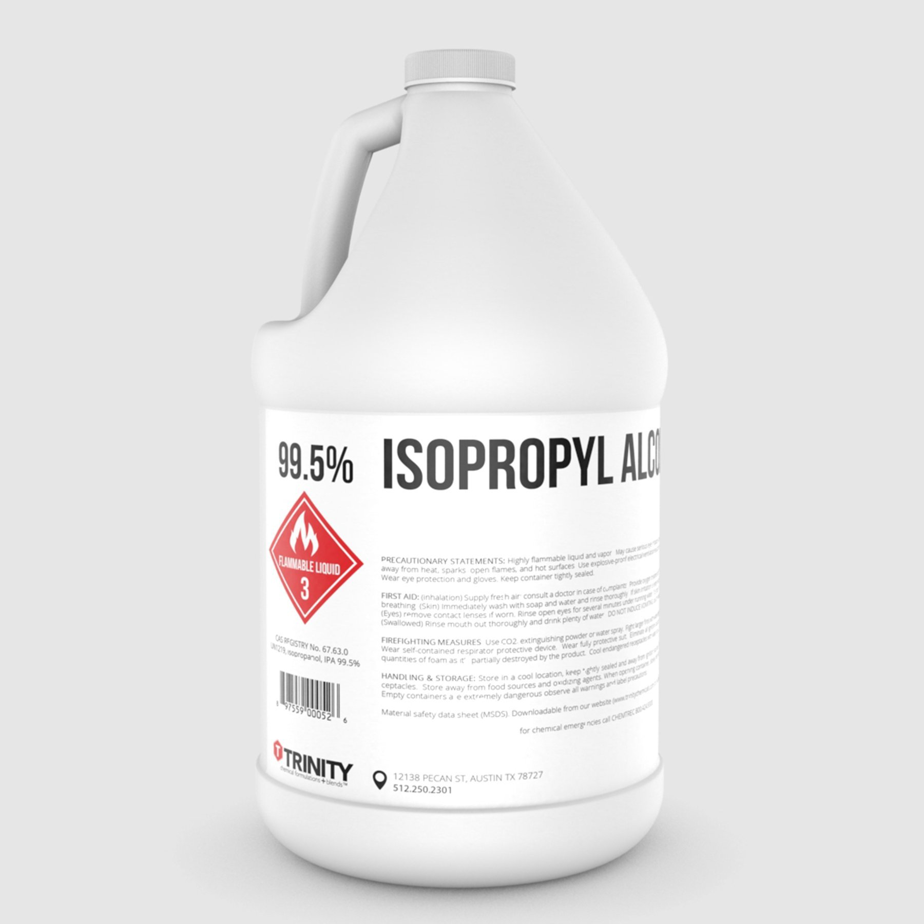 Isopropyl Alcohol 99.5% aka Isopropanol Alcohol 99.5% - A Laboratory-Grade Superior Solvent + Liquid Cleaner | 1 Gallon (3785 mL)
