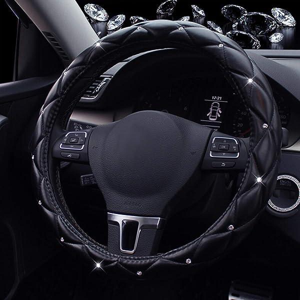 Amazon.com: Car Steering Wheel Cover piel PU, eclear ...
