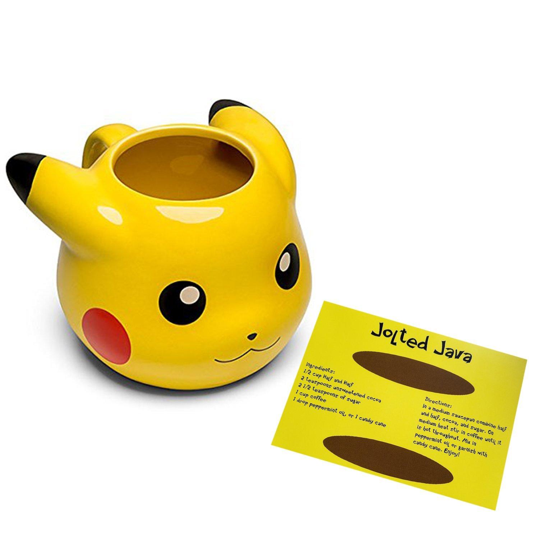 Molded 14 Pokemon Coffee Cute Oz Pikachu Yellow Mug n0w8POk