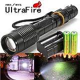 Defensive Flashlight Law Enforcement EDC Self Defense HID Brightest LED 8000 Lumens Rechargeable
