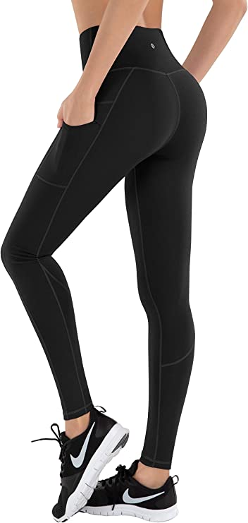SAYW Yoga Pants with Pockets for Women Leggings with Pockets,High Waist Tummy Control Workout Leggings Butt Lift Pants