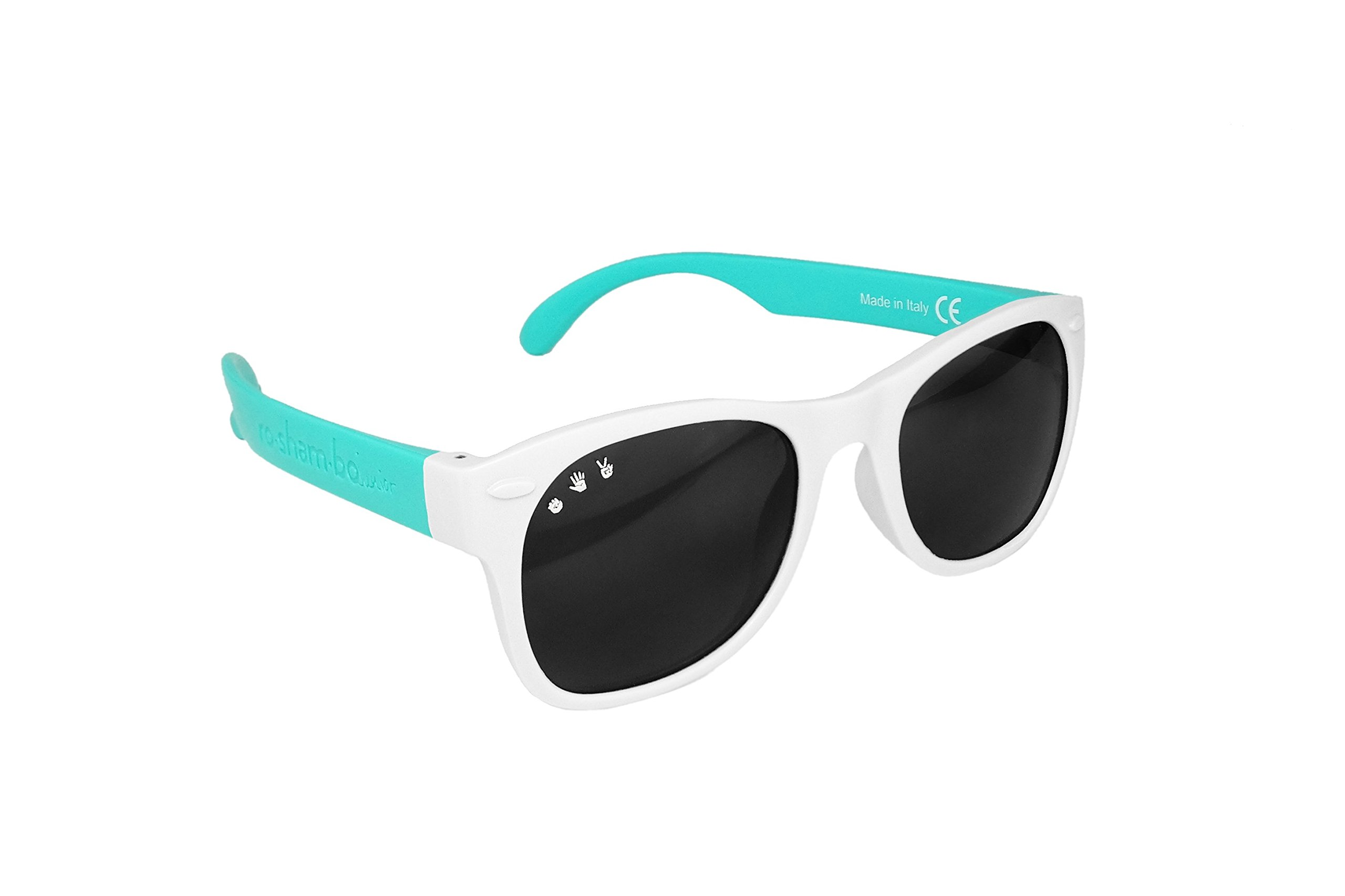 Roshambo Junior Shades, 90210 (Teal/White) by Roshambo Baby (Image #3)