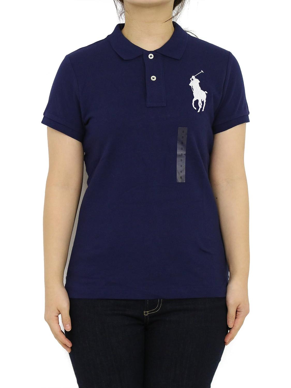 (ポロ ラルフローレン) POLO Ralph Lauren レデイース スキニーフィット 無地 ビッグポニー刺繍 ポロシャツ ワンポイン 0105576 [並行輸入品] B07CXRYJT3 US M (日本L相当) NWT NAVY NWT NAVY US M (日本L相当)