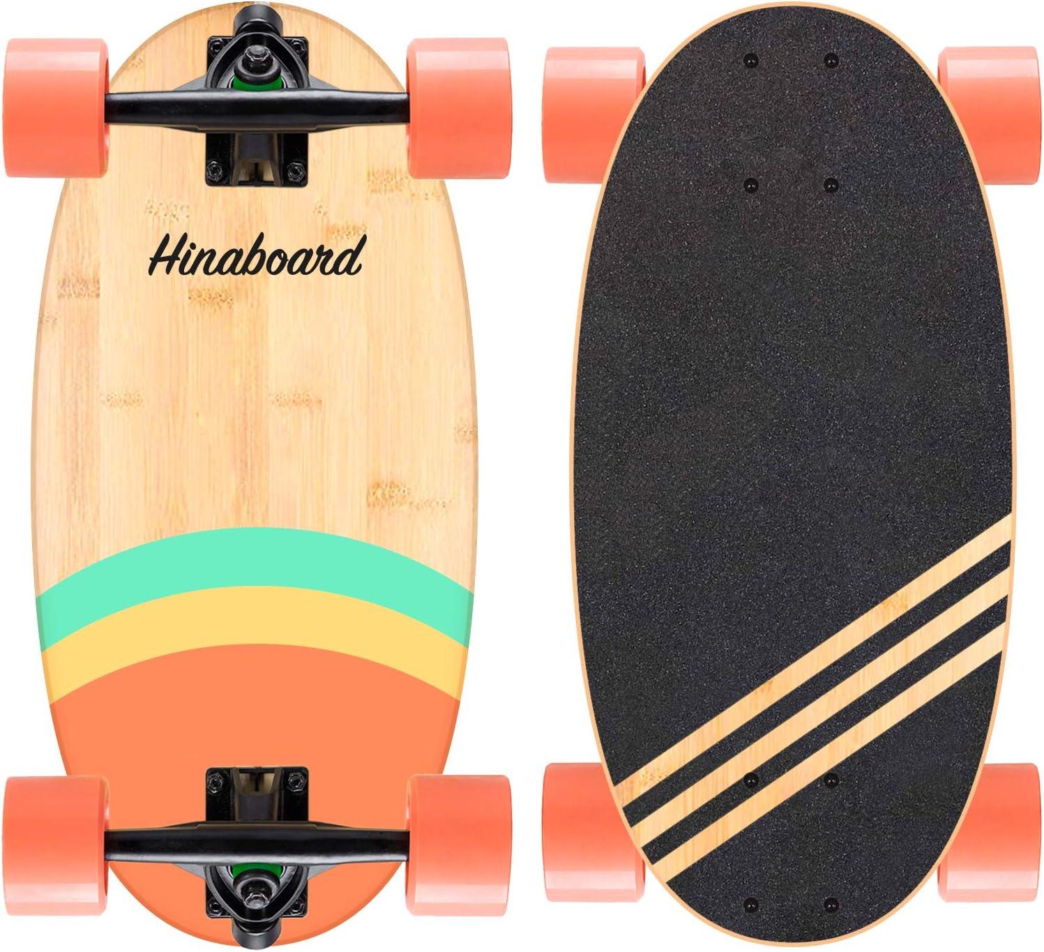 Hi-Na Hinaboard Mini High material Longboard Cruiser Max 68% OFF Skateboard Protable