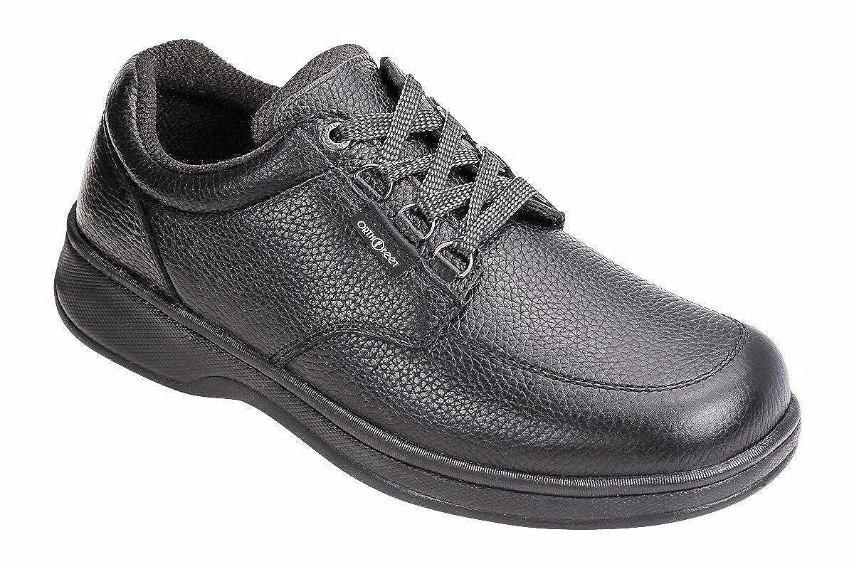 Orthofeet Comfortable Diabetic Achilles Tendonitis Foot Heel Pain - 410 Walking Shoes for Men 10.0 Medium (D) Black Lace US Men