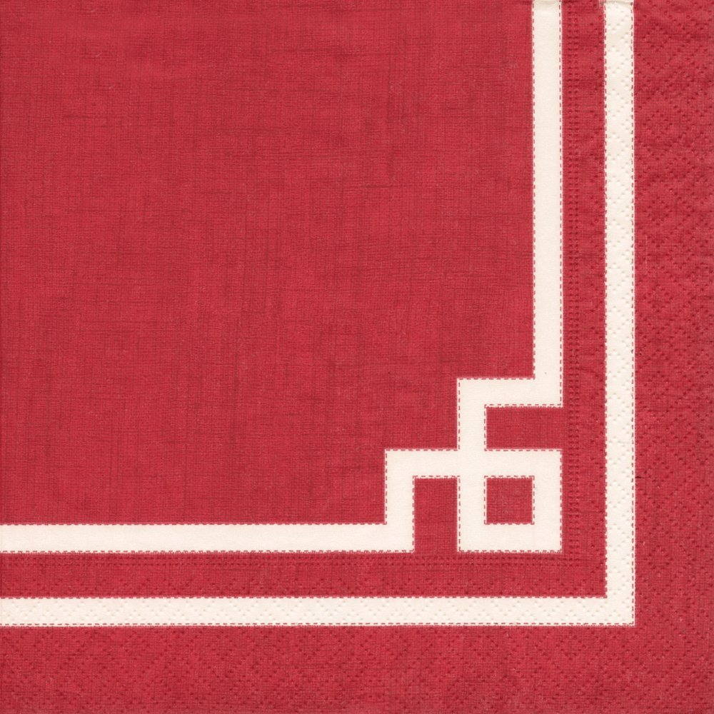 Entertaining with Caspari Cocktail Napkins Pack of 20 Rive Gauche Red