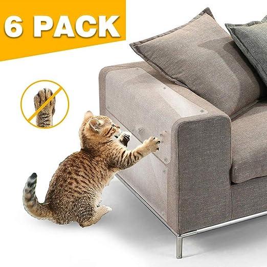 Cinta Disuasoria De Arañazos Anti Gato, Protector Para Esquina De Sofá O Sillón 6 Piezas De PVC Muebles For Mascotas Pegatinas Resistentes A Los Arañazos Sofá For El Hogar Pegatinas Anti-agarre: Amazon.es:
