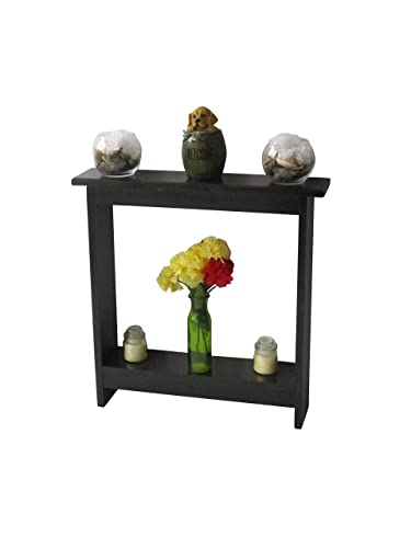 low priced 8cedf 6522e Small accent table Skinny Side Table Narrow End Table,Entryway Table,  Rustic Wood Hall Table, Black Stain