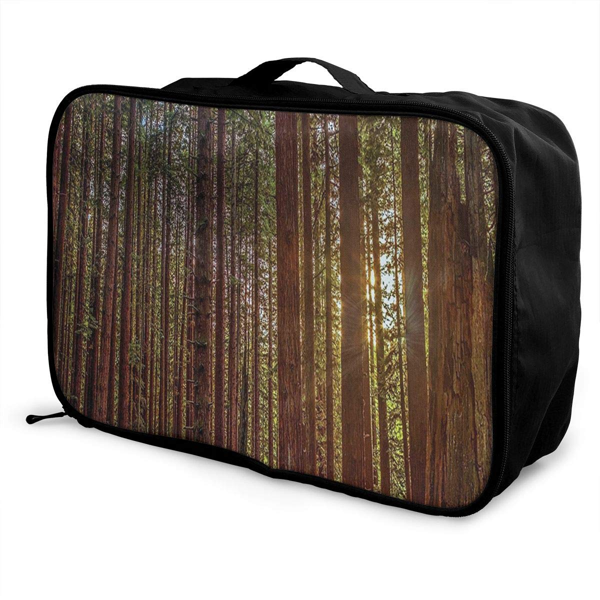 Nature Redwood Forest In California Travel Fashion Lightweight Large Capacity Duffel Portable Waterproof Foldable Storage Carry Luggage Tote Bag