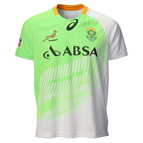 8c0ac5b200e Asics Mens South Africa Springboks Sevens Home Match Jersey 2014/15 Green  XL: Amazon.co.uk: Clothing