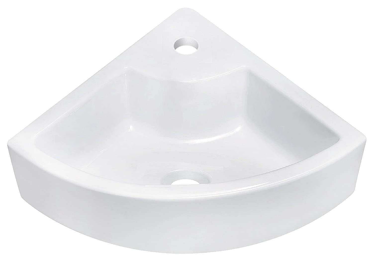 American Imaginations AI-16-367 Above Counter Round Vessel for Single Hole Faucet, 19-Inch x 19-Inch, White IMG Imports Inc.