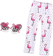 Glitter Girls by Battat – Flamingo Glow! Shoes and Leggings Accessory Set – 14-inch Doll Clothes and Accessories for Girls Ag