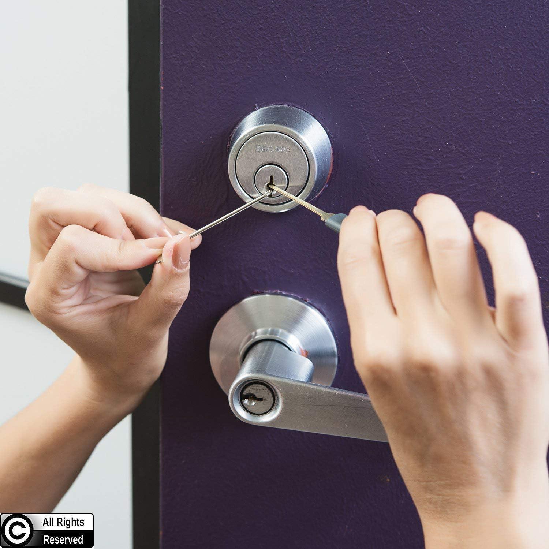 Lock Pick Set Broken Key Extractor Set Locksmith Supplies Hand Tool Key Remove Removal Hooks Furniture Hardware