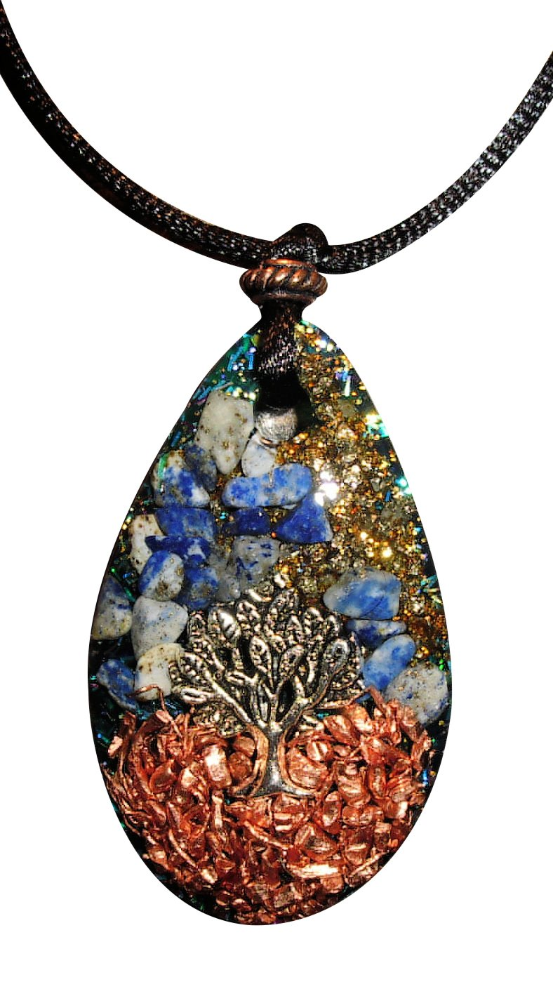 Prosperity and Abundance Tree of Life Pendant with Orgone Protection