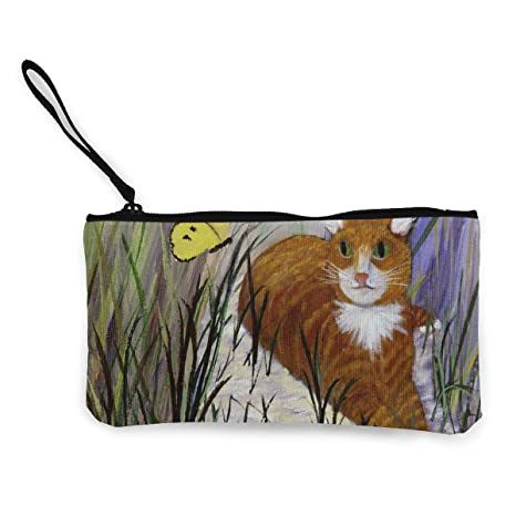 Amazon.com: Monedero de gato con almohada con cierre de lona ...
