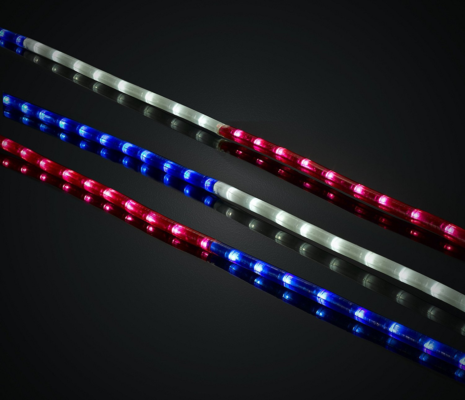 Green longlife 18 feet red white and blue decorative extendable green longlife 18 feet red white and blue decorative extendable led rope light aloadofball Images