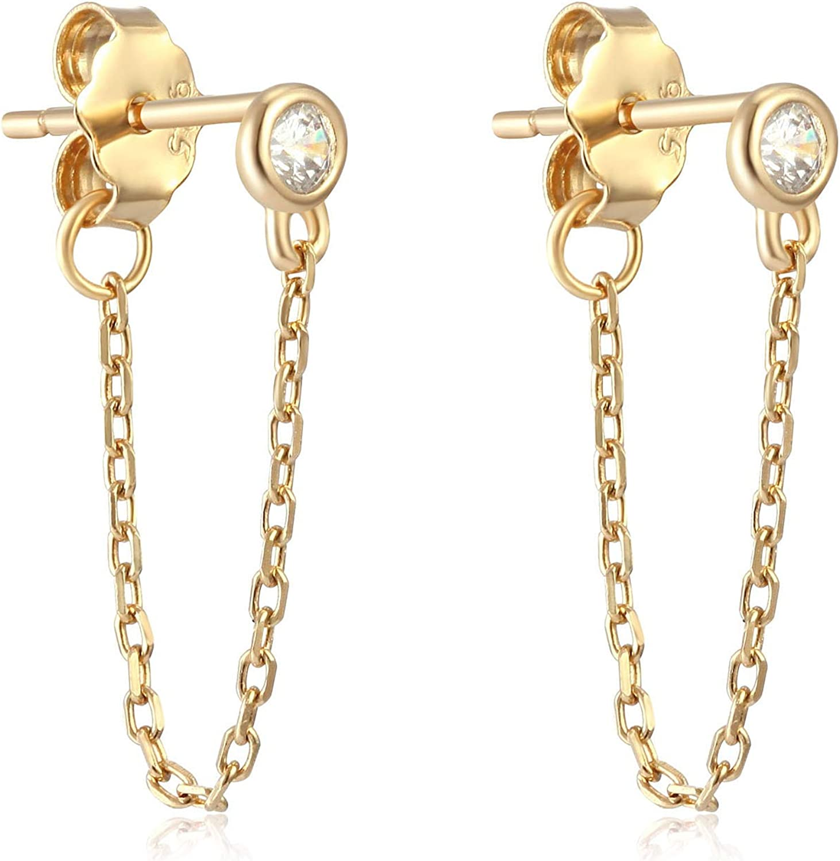 OSIANA Womens Dangle Stud Hoop Earrings with CZ Crystal Water Drop Earrings