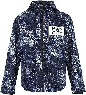 Clothing & Accessories/Men/Coats & Jackets/W Blue Trend Coat Hooded Jacket Middle Coat Jacket Casual Men's Jacket Spring New Windbreaker Men's Trend Coat Contrast Color Stitching Design