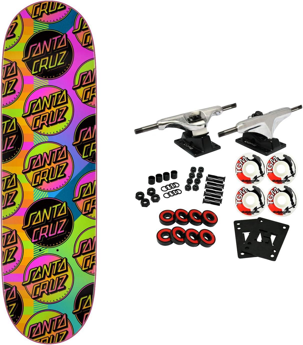 Santa Cruz Skateboards Complete VX Afterglow MultiDot 9.0 Quad X Technology
