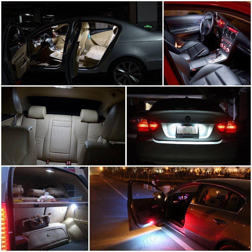 K-Bright 10pcs//lot T10 24 V 5SMD LED auto de camiones de luz cu/ña l/ámpara pantalla l/ámpara,placa de licencia de Auto l/ámpara Dome Puerta lateral Marcar incluida Blanco Fr/ío Camiones