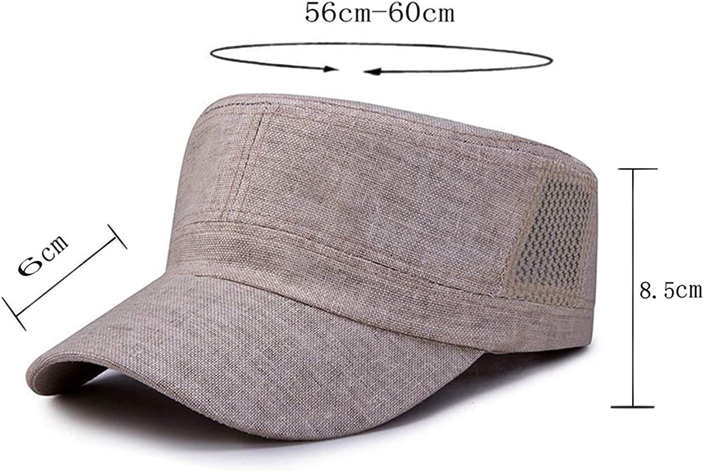 Tian Fan Ni Men Trucker Cap Flax Cotton Flat Cap Outdoor Military Hats Adjustable Baseball Cap