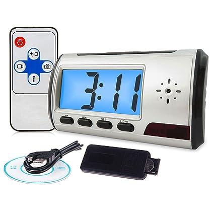 Xtech - Mini Reloj Despertador con Mando a Distancia y cámara espía