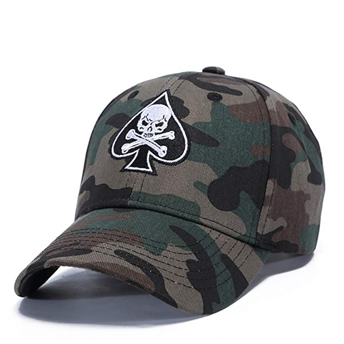 c099019c2 Feisette Unisex Camouflage Outdoor Baseball Cap Skull Embroidery Fashion  Sports Hats for Men & Women Caps at Amazon Women's Clothing store: