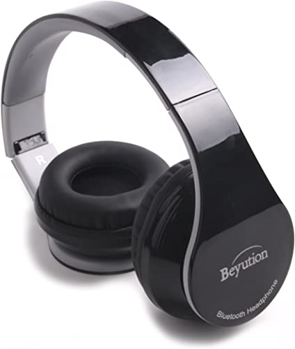 New Beyution BT513 Over-Ear HiFi Bluetooth 4.0 Headphones for Apple iPhone 5S 5C 5 4S IPAD Mini and All Series iPod Ipouch and Mac Laptop PC Tablet-Best Audio Performance-Black Color