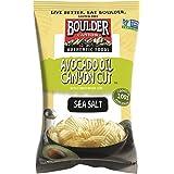 Boulder Canyon Kettle Cooked Potato Chips, Avocado Oil Canyon Cut, Sea Salt, 5.25 Ounce, (Pack of 12)
