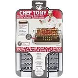 Chef Tony Healthy Cooking Baking Bacon Pan, Black