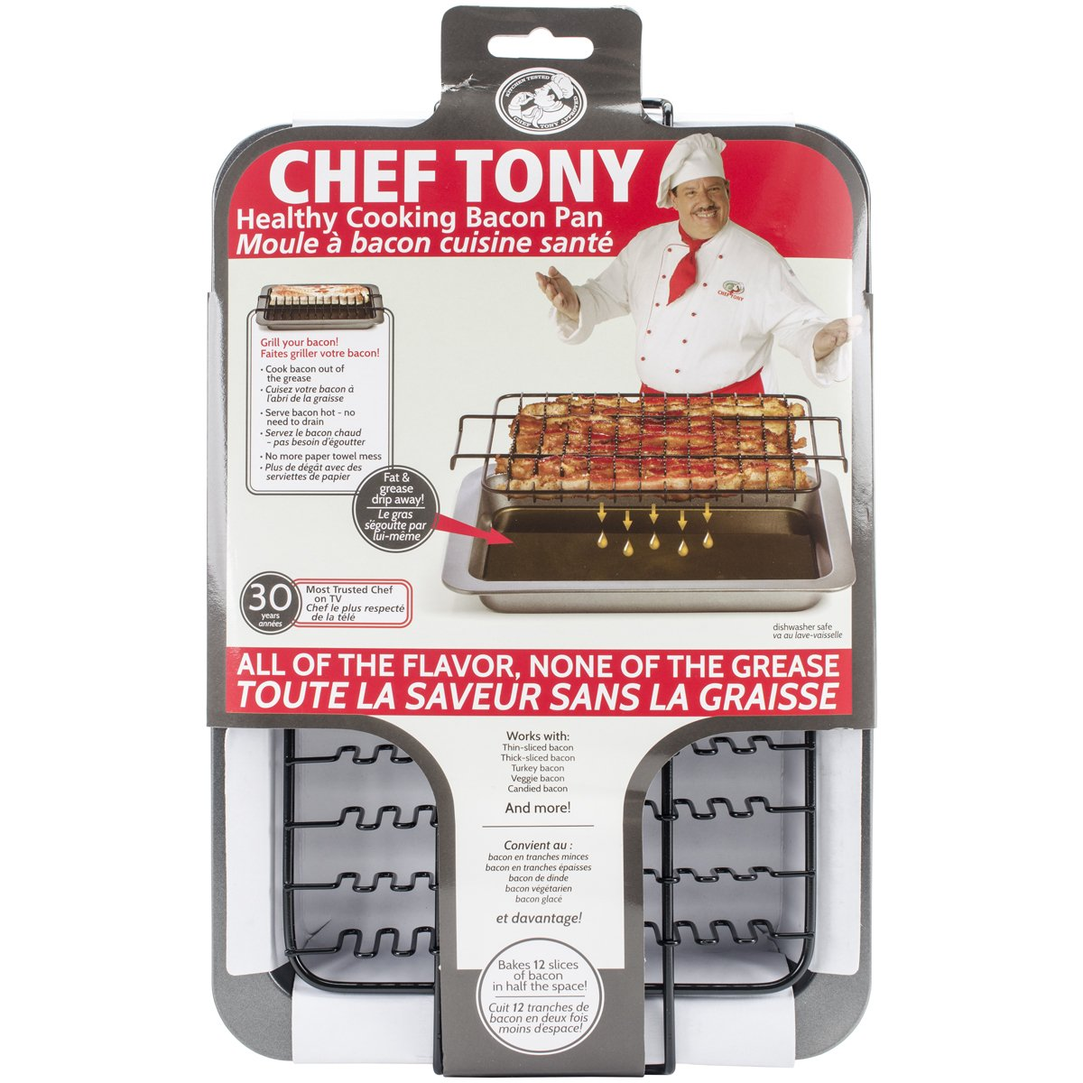 Love Cooking Company Chef Tony Healthy Bacon Pentola, 14,5 cm x 10 cm x 15 cm, altri Notions Marketing 404