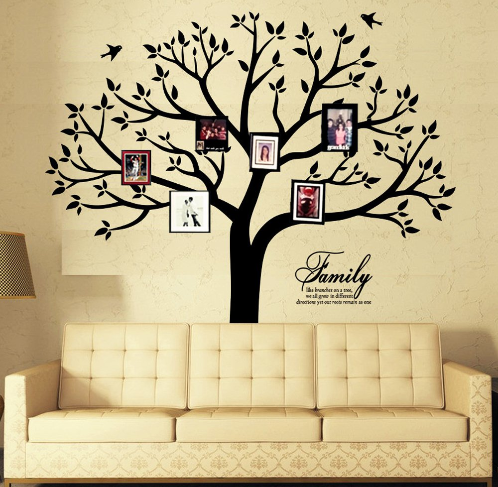 Chris Giant Family Photo Tree Wall Decor Wall Sticker Vinyl Art Home ...