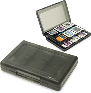 Insten 28-in-1 Game Card Case Compatible with Nintendo New 3DS / New 3DS XL/New 3DS LL / 3DS XL/DSi/DSi XL LL/DS/DS Lite/New 2DS XL LL / 2DS Cartridge Storage Solution Box Holder Black