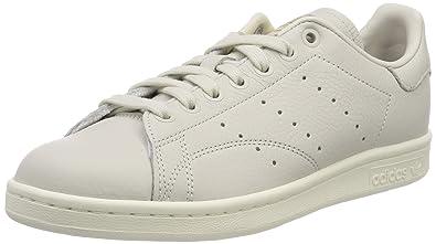 online store dd7ca b3f91 adidas Stan Smith W Chaussures de Gymnastique Femme, Blanc Raw White Collegiate  Burgundy